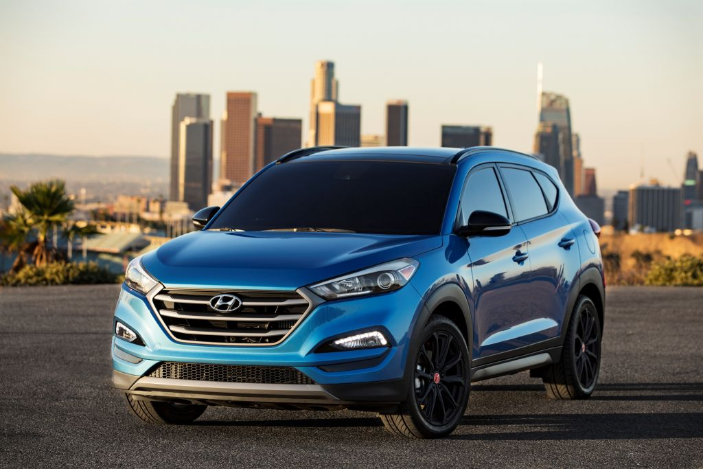 Hyundai Tucson NIGHT Model at 2016 SEMA Show on Everyman Driver, Dave Erickson